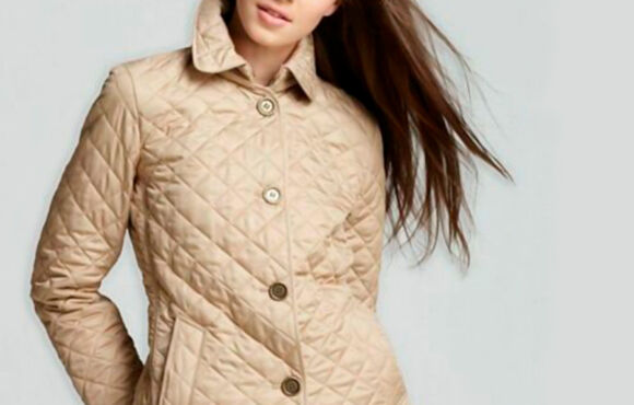 Burberry brit women's beige copford diamond quilted jacket