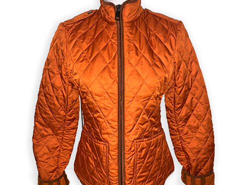 Burberry Brit Women's orange copford quilted jacket size small