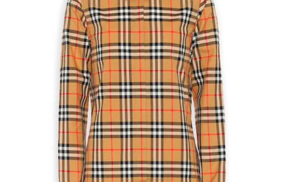 Burberry Women's Crow Vintage Check cotton long sleeve button down shirt